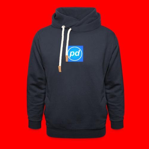 pd Blue V2 - Hoodie med sjalskrave