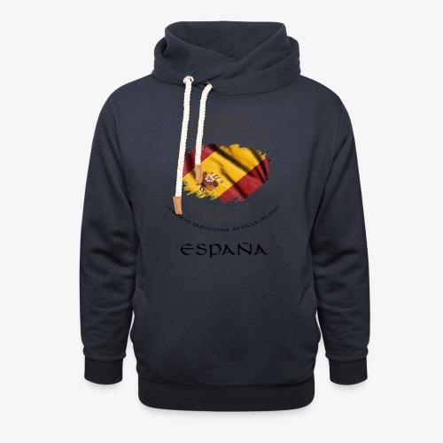 Spain Vintage Flag - Schalkragen Hoodie