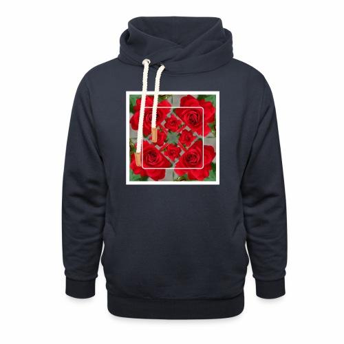 Rose Design - Unisex Schalkragen Hoodie