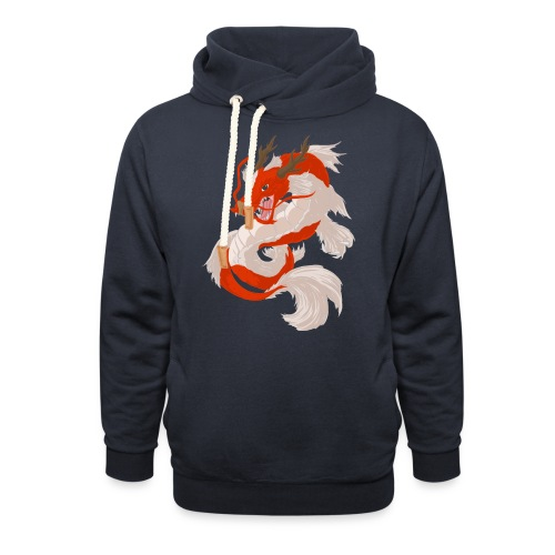 Dragon koi - Felpa con colletto alto
