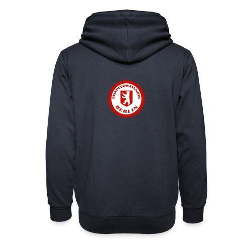 Logo in Rot Weiß - Unisex Schalkragen Hoodie