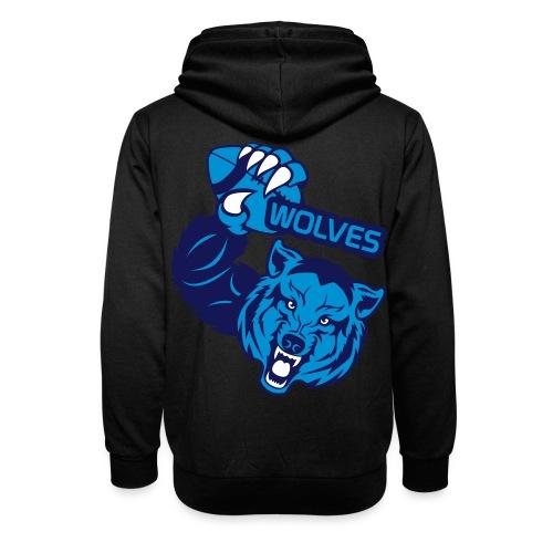 Wolves Rugby - Sweat à capuche cache-cou unisexe