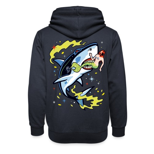 Requin mangeur de sirène - Sweat à capuche cache-cou
