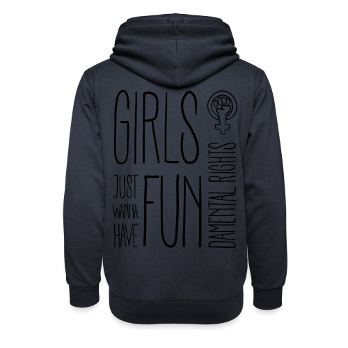 Girls just wanna have fundamental rights - Schalkragen Hoodie