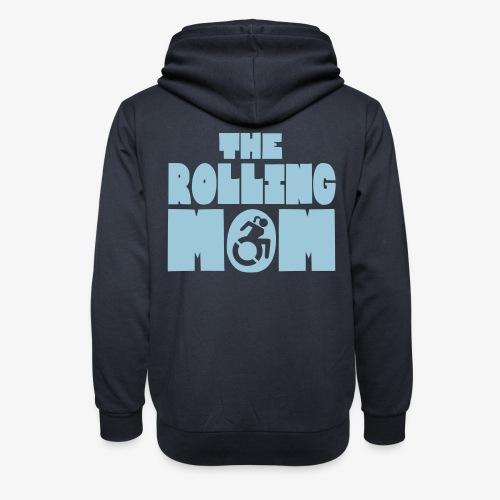 De rollende moeder in een rolstoel - Unisex sjaalkraag hoodie