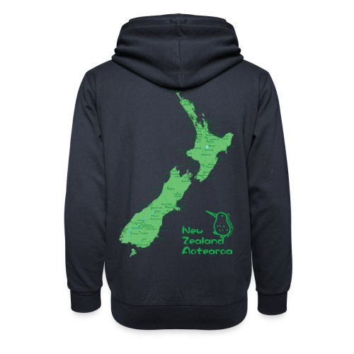 New Zealand's Map - Shawl Collar Hoodie