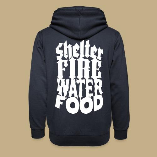 Shelter Fire Water Food - Schalkragen Hoodie
