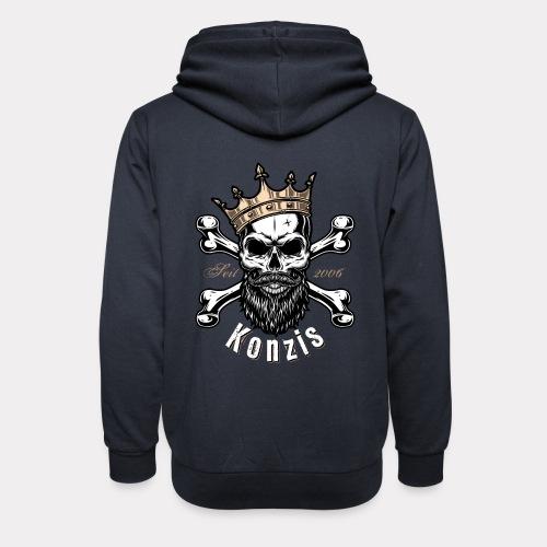 Skull Bones Logo - Unisex Schalkragen Hoodie