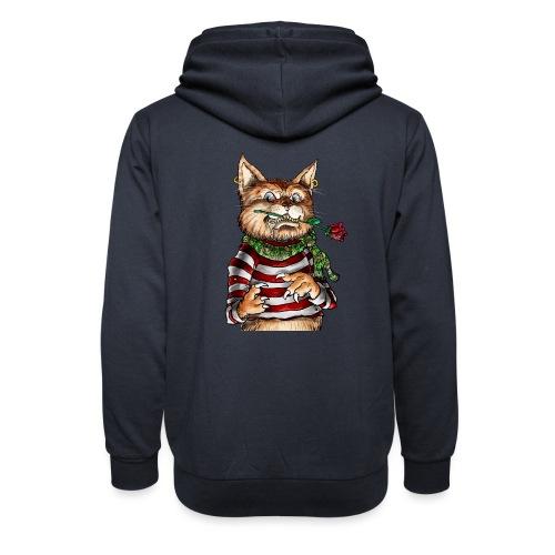 T-shirt - Crazy Cat - Sweat à capuche cache-cou unisexe
