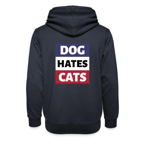 Dog Hates Cats - Schalkragen Hoodie