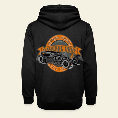 Raredog Rods Logo - Unisex hoodie med sjalskrave
