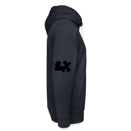 Ente mit X v3 3 klein - Unisex Schalkragen Hoodie