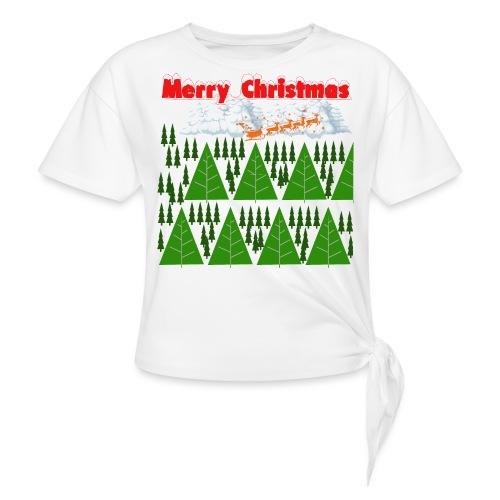 christmas time. Tempo di Natale - Maglietta annodata