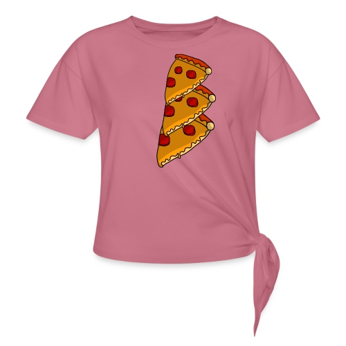pizza - Dame knot-shirt
