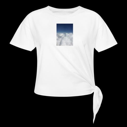 clouds - Vrouwen Geknoopt shirt