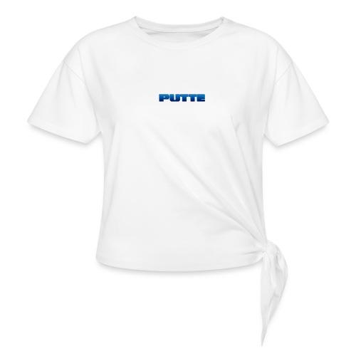 testar - T-shirt med knut dam