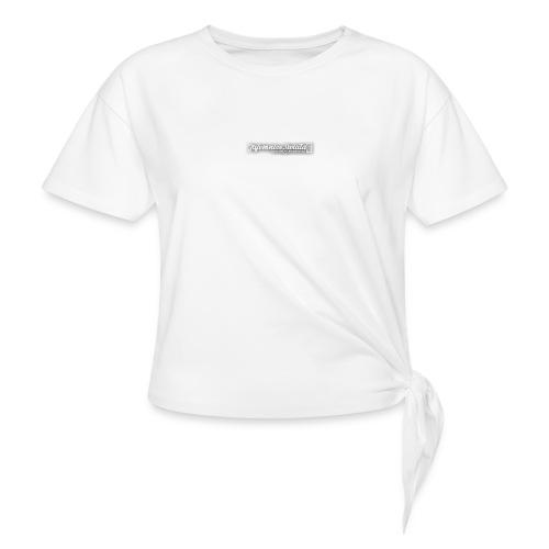 logo_TS - Koszulka damska z wiązaniem