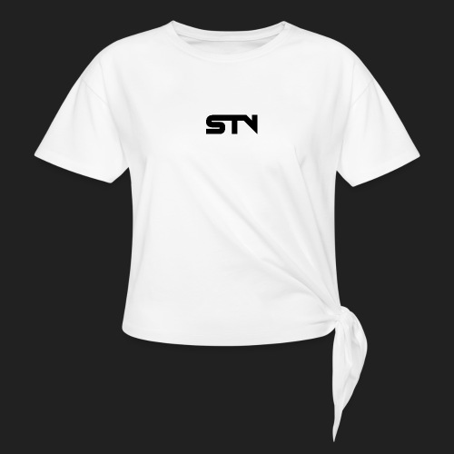 STV Logo Black - Women's Knotted T-Shirt