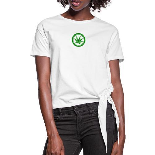 Weed - Frauen Knotenshirt