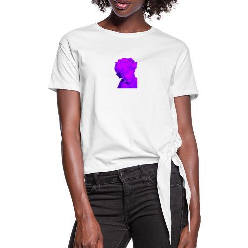art vaporwave - Maglietta annodata da donna