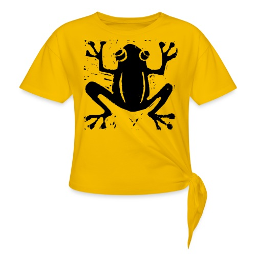 Crafty Wotnots Tree Frog - Women's Knotted T-Shirt