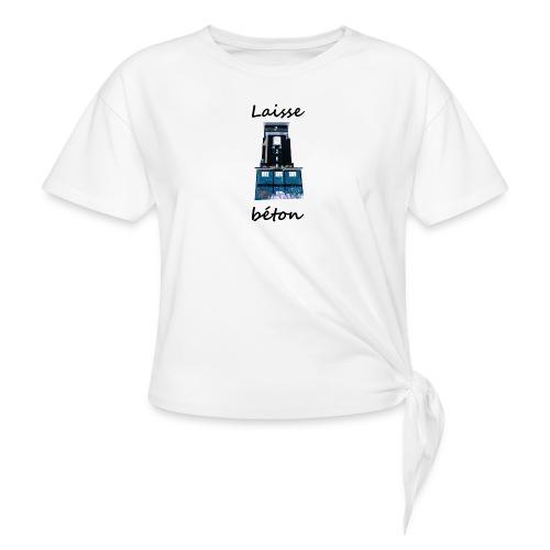 laisse_b--ton-png - T-shirt à nœud Femme