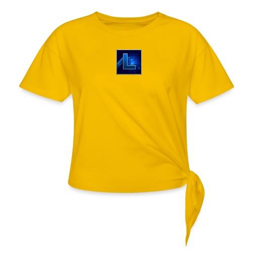Logo GamenMetLucas - Vrouwen Geknoopt shirt