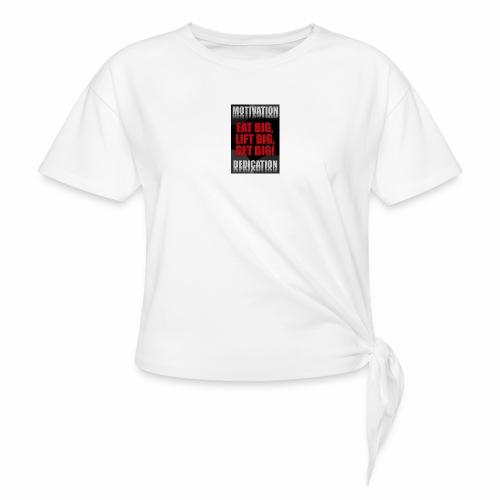 Motivation gym - T-shirt med knut