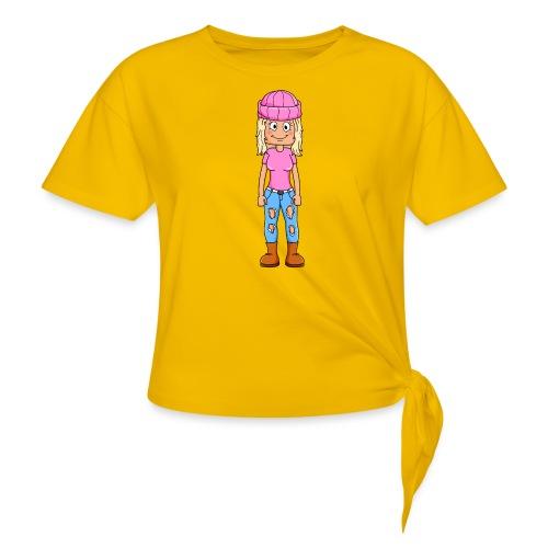 Yumi gaming tryck - T-shirt med knut dam