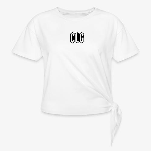 CLG DESIGN black - T-shirt à nœud