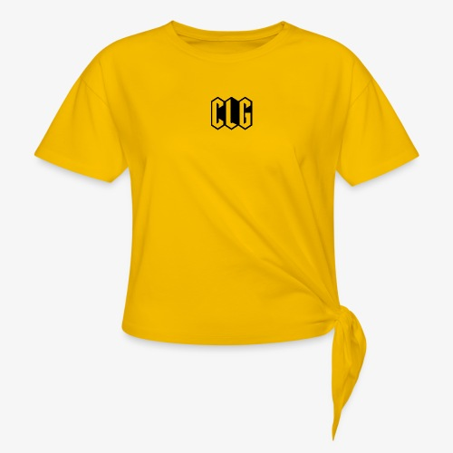 CLG DESIGN black - T-shirt à nœud Femme