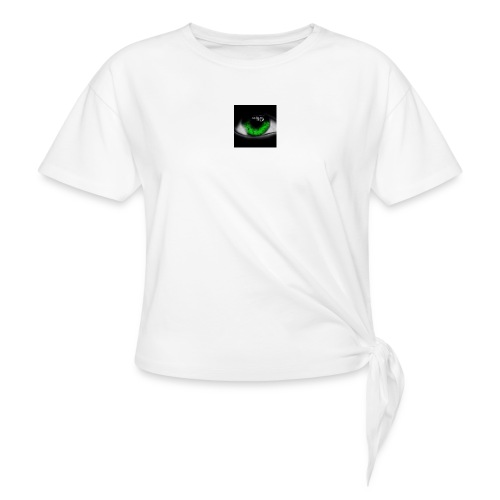 Green eye - Women's Knotted T-Shirt