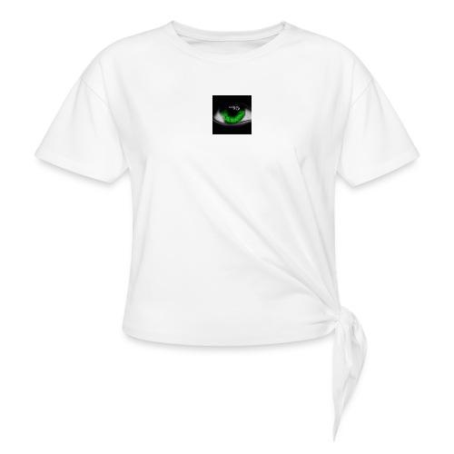 Green eye - Women's Knotted T-Shirt
