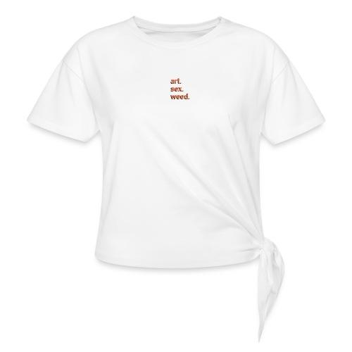 art sex weed - Frauen Knotenshirt