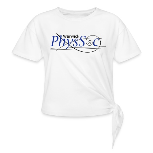 Official Warwick PhysSoc T Shirt - Knotted T-Shirt