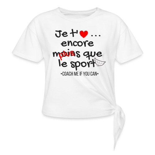Saint Valentin - T-shirt à nœud Femme