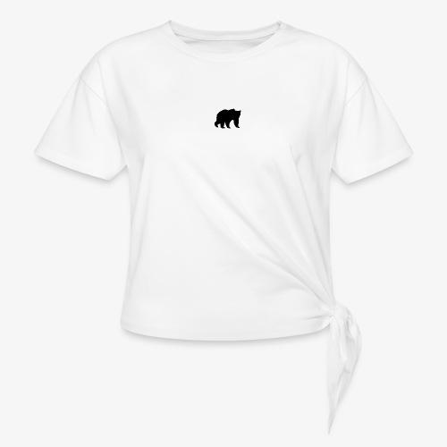 alouci - T-shirt med knut dam