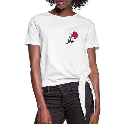 spring 3png - Maglietta annodata da donna