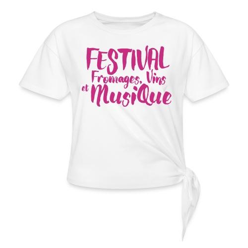 Festival FVM - T-shirt à nœud