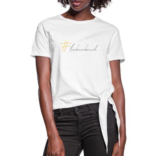 Liebe im Bauch - gelb - Frauen Knotenshirt