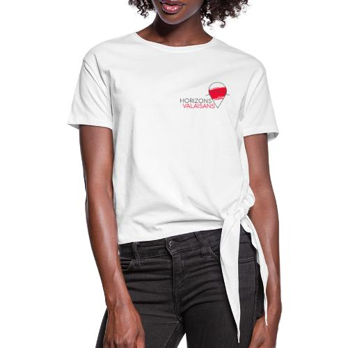 Horizons Valaisans (noir) - T-shirt à nœud Femme