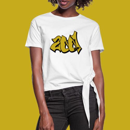 2001er Logo - Frauen Knotenshirt
