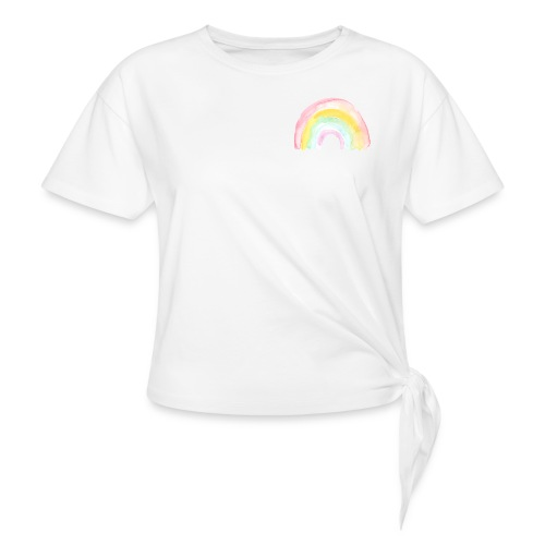 Pastell Rainbow - Frauen Knotenshirt
