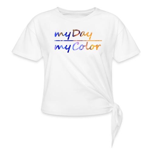 myDay Schriftzug - Frauen Knotenshirt