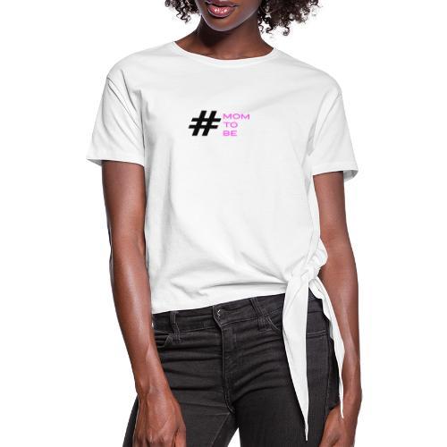 mom to be - rosa - Frauen Knotenshirt