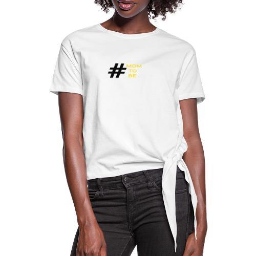 mom to be - gelb - Frauen Knotenshirt