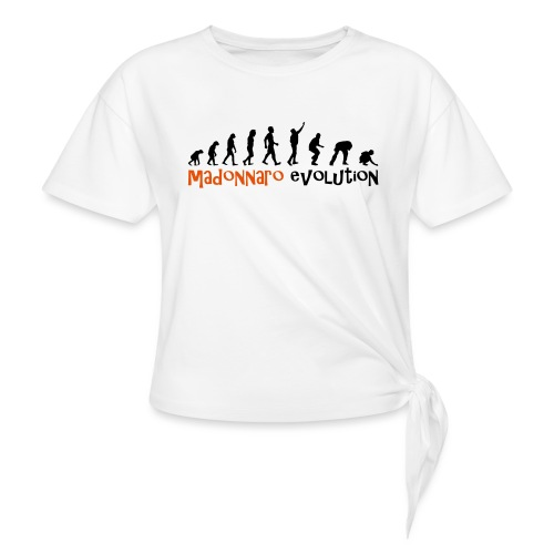 madonnaro evolution original - Women's Knotted T-Shirt