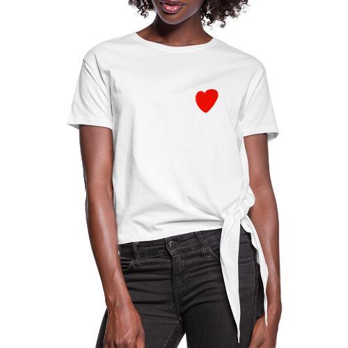Herz - Frauen Knotenshirt