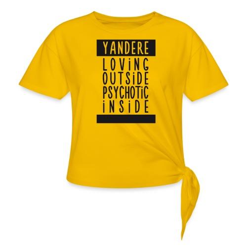 Yandere manga - Women's Knotted T-Shirt