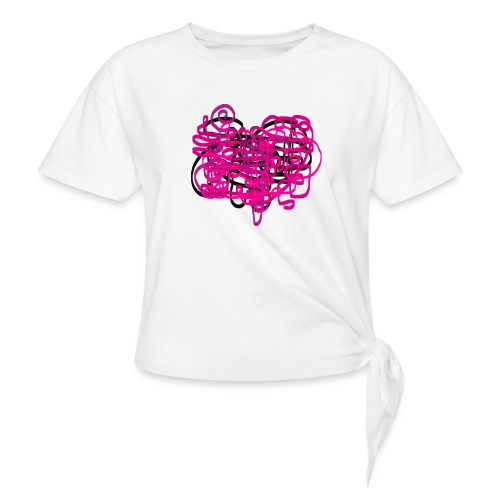 delicious pink - Women's Knotted T-Shirt